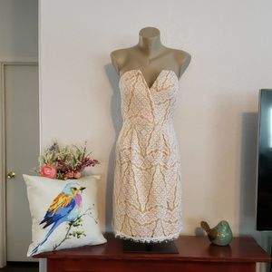 Adelyn Rae Yellow Lace Dress size M and L